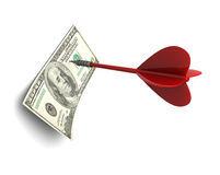 Dart and dollar Royalty Free Stock Image