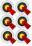 Dart Economy Target Collection Stock Images