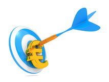 Dart and Euro. Business Concept. Stock Images