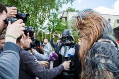 Dart Fener è in corsa per le elezioni importanti di Kiev Immagine Stock