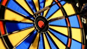 Dart game closeup stock footage