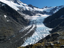 Dart glacier and mountains around Stock Photography