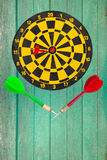 Dart go to target Royalty Free Stock Photos