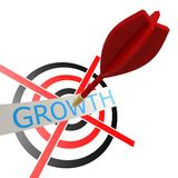 Dart with growth Stock Photography