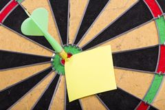 Dart hit the centre of target Royalty Free Stock Photography