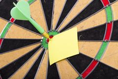 Dart hit the centre of target Royalty Free Stock Image