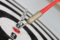 Dart hit the target Stock Image