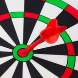 Dart hit on  target Royalty Free Stock Photos