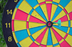 Dart hit the target in bull Royalty Free Stock Photos