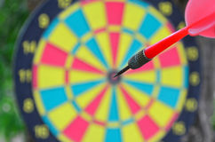 Dart hit the target in bull Stock Photography