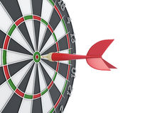 Dart hit the target Stock Image