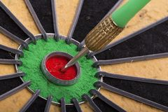 The dart hit the target Stock Image