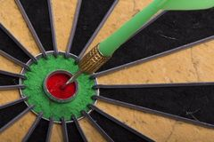 The dart hit the target Royalty Free Stock Image