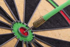 The dart hit the target Royalty Free Stock Images