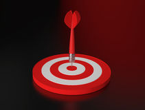 Dart hit the target Stock Photo