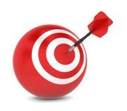 Dart hits aim Stock Photo