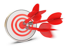 Dart hits the target Stock Photo
