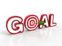 Dart Hitting the Goal, Success Concept Stock Photography