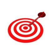 Dart Hitting Target Stock Photo