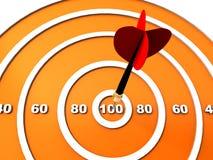 Dart hitting the target Stock Image