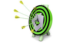 Dart hitting the target Stock Images