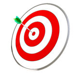 Dart Hitting A Target Royalty Free Stock Photo