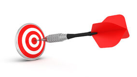 Dart hitting a target Stock Photography