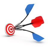Dart hitting a target Royalty Free Stock Photography