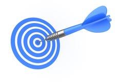 Dart hitting target Stock Image