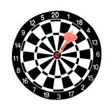 Dart hitting a target Royalty Free Stock Photos