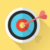 Dart Hitting A Target. lucky in game lucky in love. Royalty Free Stock Photos