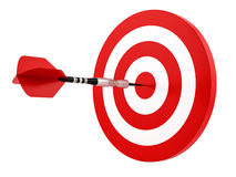 Dart hitting the target Royalty Free Stock Photos