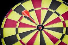 Dart hitting a target Stock Images