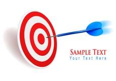 Dart hitting a target. Success concept. Stock Images