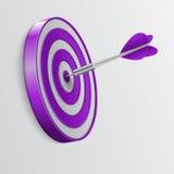 Dart hitting a target. Success concept. Stock Image