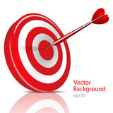 Dart Hitting A Target, Vector Background Royalty Free Stock Images