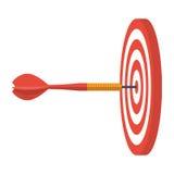Dart hitting target. Stock Photography