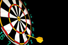 Dart missed the center of the target Darts Royalty Free Stock Photo