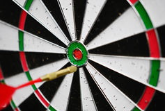 Dart missing the right target Royalty Free Stock Image