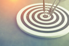 Dart is an opportunity and Dartboard is the target and goal Stock Images