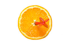 Dart on orange Royalty Free Stock Images