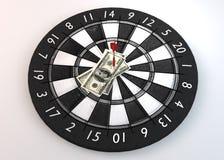 Dart Pin dollars_center topview Royalty Free Stock Photo