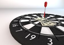 Dart Pin dollars_close up Royalty Free Stock Images