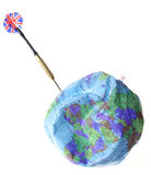 Dart puncturing World globe Royalty Free Stock Image