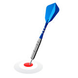 Dart on red target. Vector illustration of a blue dart on a red target Royalty Free Stock Photo
