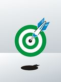 Dart right on the target Royalty Free Stock Photos