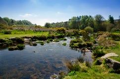 The Dart River In Early Spring Season At Postbridge, Dartmoor Na. Tional Park, Devon, England, UK royalty free stock photography