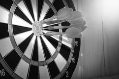 Dart stab not target on classic board. Not success Royalty Free Stock Images