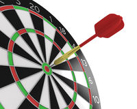 Dart stuck in a board Stock Photography