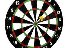 Dart stuck in a dartboard Royalty Free Stock Photo